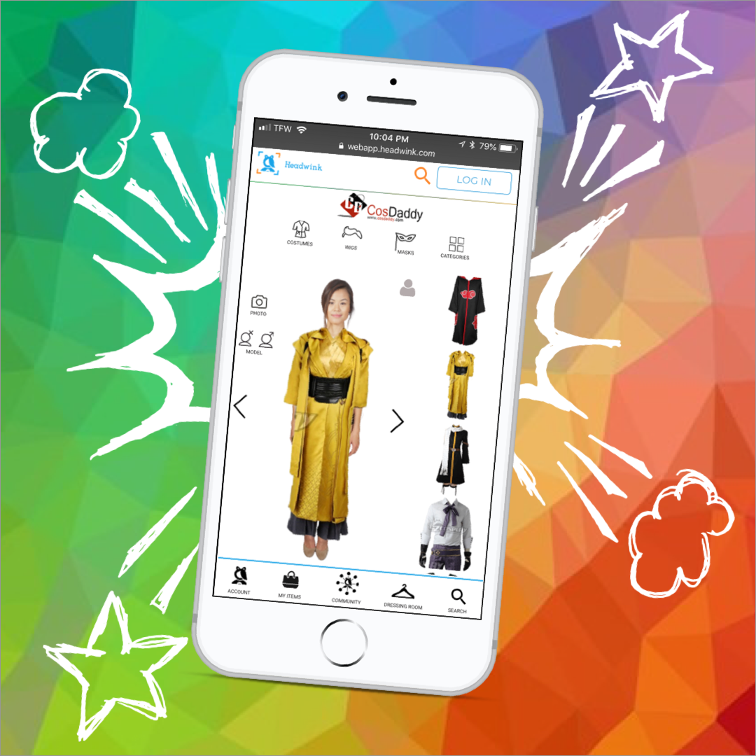 Headwink fashion technology augmented reality virtual dressing room app
