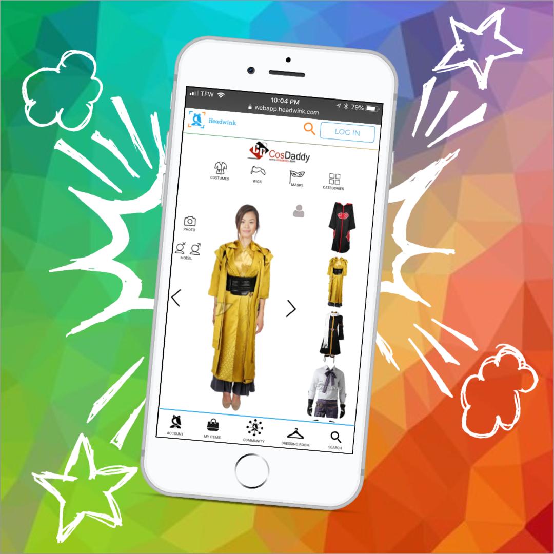 Headwink fashion technology augmented reality virtual dressing room app